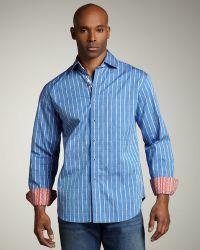 Robert Graham Jacquard Stripe Sport Shirt - Lyst