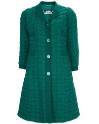 Rochas Textured Wool Coat - Lyst