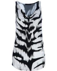 Alexander McQueen Cowl Neck Top animal - Lyst