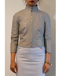 Aminaka Wilmont 34 Sleeve Leather Jacket - Lyst