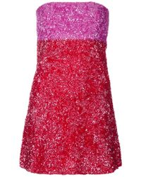P.A.R.O.S.H. Sequin Dress - Lyst