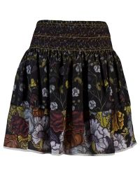 Proenza Schouler Printed Silk Skirt black - Lyst