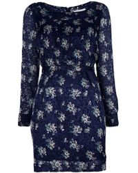 See By Chloé Short Dress blue - Lyst