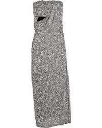 Willow - Printed Silk Sarong-style Gown - Lyst