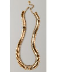 House of Harlow 1960 - Bar Necklace Yellow Gold - Lyst