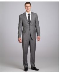 Joseph Abboud - Grey Pinstripe Super 120s Wool 2button Suit with Flat Front Trousers - Lyst