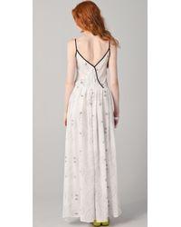 Piamita - Zelda Printed Silk Nightdress - Lyst