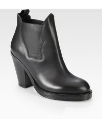 Acne Studios Stretchy Leather Ankle Boots - Lyst