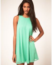 ASOS - Asos Swing Dress with Double Layer - Lyst