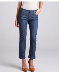 Celine Blue Speckled Stretch Denim Skinny Jeans - Lyst