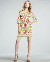 Julie Dillon - Cactus Flower Threequarter Sleeve Dress - Lyst