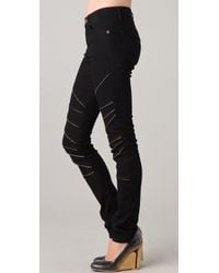 Superfine - Midrise Skinny Jean with Exposed Zipper Detail - Lyst