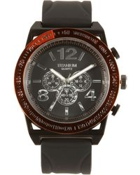 Titanium Plated Chronograph Strap Watch - Lyst