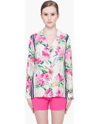 Elizabeth and James - Floral Silk Pyjama Top - Lyst