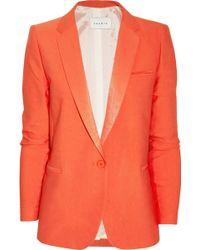 Sandro Vicky Woventwill Blazer orange - Lyst