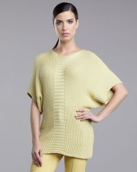 St. John Yellow Label   Welted Rib Knit Sweater   Lyst