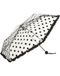 TOPSHOP - Clear Spot Frill Umbrella - Lyst