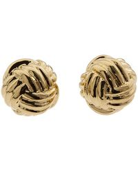 Kate Spade Know The Ropes Stud Earrings gold - Lyst