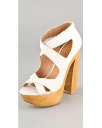 L.A.M.B. - Minny Platform Sandals - Lyst