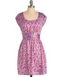 ModCloth Falling in Lavender Dress - Lyst