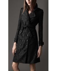 Burberry Long Lace Trench Coat - Lyst