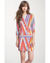 Juicy Couture Sirius Print Silk Dress - Lyst