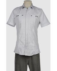 Les Hommes Short Sleeve Shirts - Lyst