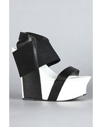 United Nude The Geisha Hi Shoe in Black and White - Lyst