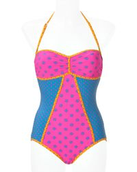 Marc By Marc Jacobs Cleo Mixed Print Swimsuit - Lyst