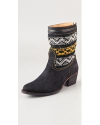 Cobra Society Suede Otto Boots black - Lyst