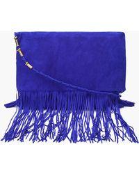 Matthew Williamson Blue Fringe Shoulder Bag