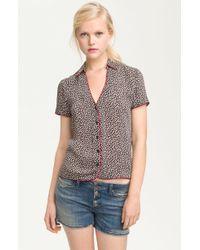 Aiko Gwen Print Pajama Shirt - Lyst