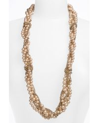 Givenchy Indus Glass Pearl Multistrand Necklace gold - Lyst