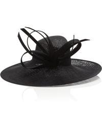 Philip Treacy Sweeping Side Brim Hat - Lyst