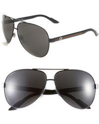 Gucci Metal Aviator Sunglasses - Lyst