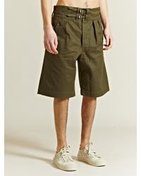 Nigel Cabourn Mens Bombay Bloomer Drill Shorts - Green