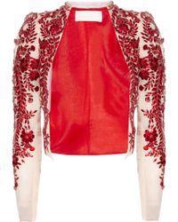 Antonio Berardi Embellished Silk Organza Jacket - Lyst