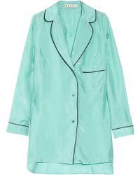 Marni Oversized Silk Pajama Shirt - Lyst