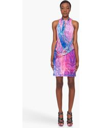 McQ by Alexander McQueen Fireworks Print Drape Dress - Lyst