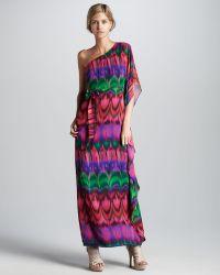 Trina Turk Edita Printed Silk Dress - Lyst