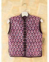 Free People Vintage Floral Quilted Vest - Lyst