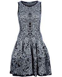 Alexander McQueen Printed Skater Dress black - Lyst