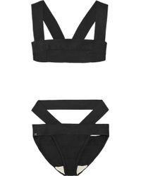 Hervé Léger Cutout Bandage Bikini - Lyst