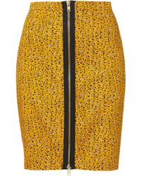 Topshop Grunge Ditsy Floral Skirt yellow - Lyst