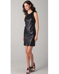 Kelly Bergin - Leather Shift Dress - Lyst