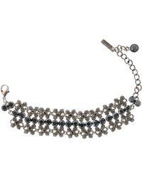 Gemini - Black Bracelet with Swarovski Crystals - Lyst