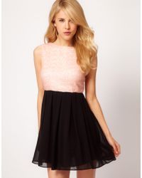 TFNC Tfnc Babydoll Dress with Sequin Bodice - Lyst