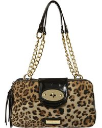 Jane Norman - Leopard Print Chain Handle Bag - Lyst