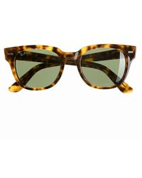 J.Crew Ray-Ban® Meteor Sunglasses With Green Lenses brown - Lyst