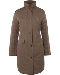 Kenneth Cole Reversible Funnel Neck Quilted Coat - Brown